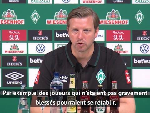 """Werder Brême - Kohfeldt : """"Cette pause pourrait avoir des côtés positifs"""""""