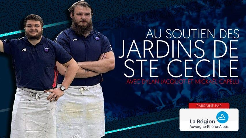 Rugby : Video - Mickaël Capelli et Dylan Jacquot au soutien des Jardins de Sainte Cécile