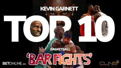 TOP 10: Kevin Garnett 'BAR FIGHTS' & Beastly Moments From NBA Career
