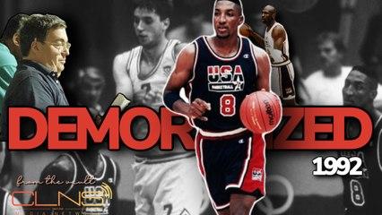 Kukoc Gets Demoralized By Michael Jordan & Scottie Pippen in 1992 Dream Team Game - Original Footage