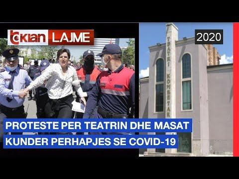 Proteste per teatrin dhe masat kunder perhapjes se Covid-19 |Lajme – News