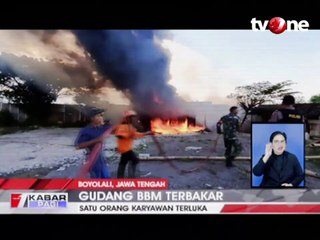 Gudang Penyimpanan BBM Terbakar, 1 Orang Terluka