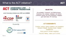 ACT – Assessing low Carbon Transition new methodologies development (Iron & Steel, Agriculture & Agro-food and Generic)