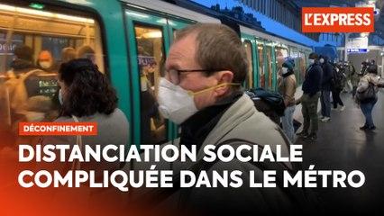 Déconfinement : des lignes du métro parisien brièvement bondées
