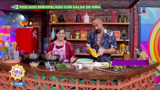 #QuédateEnCasa Prepara pescado empapelado con salsa de piña