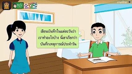 สื่อการเรียนการสอน การเขียนบันทึกความรู้ ป.4 ภาษาไทย
