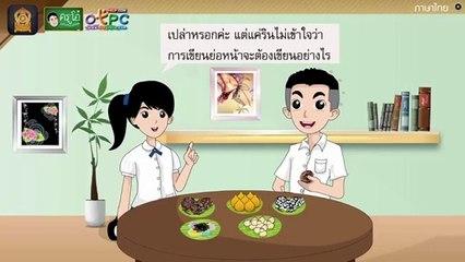 สื่อการเรียนการสอน การเขียนย่อหน้า ป.4 ภาษาไทย
