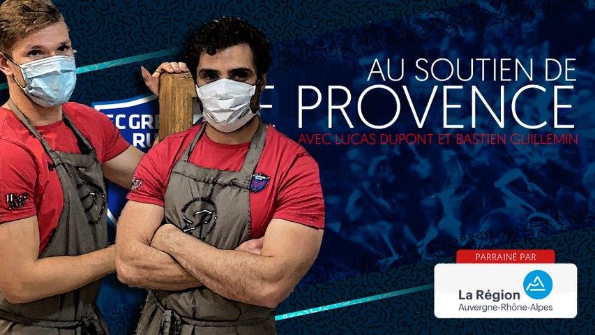 Rugby : Video - Lucas Dupont et Bastien Guillemin au soutien du Provence