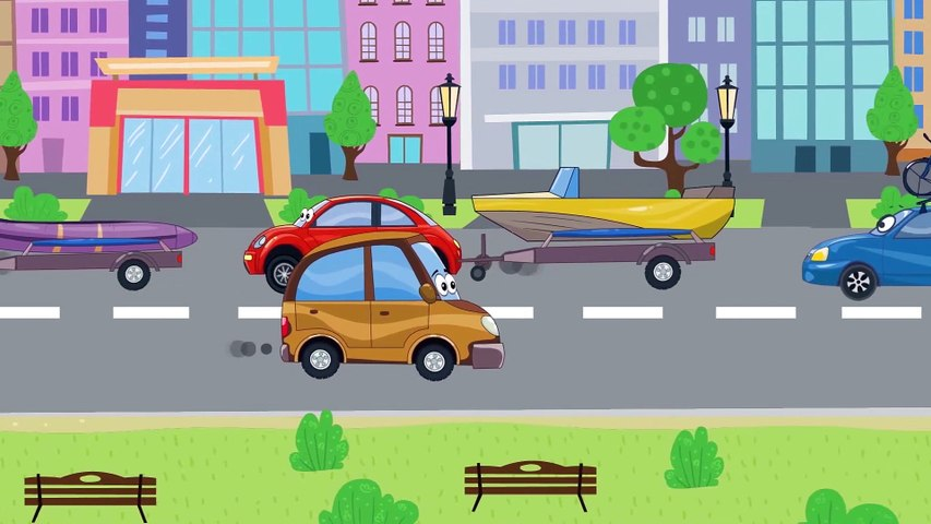 Learn Colors with Animals - Car Cartoons for Kids. Cartoon for Children and baby with Be Be Workshop