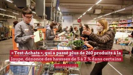 Votre caddie plus cher: les supermarchés ont bien profité de la crise
