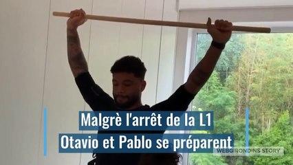 Pablo et Otavio s'entraînent