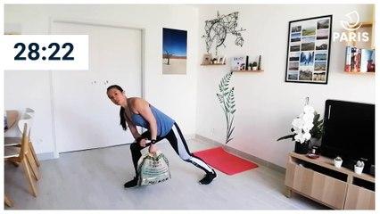 Paris chez vous : 25 minutes de renforcement musculaire avec un sac de courses.