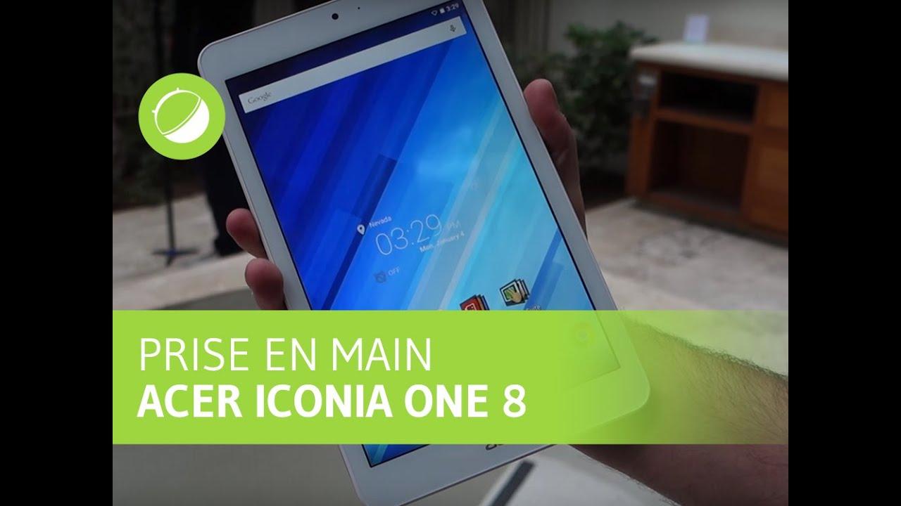 CES 2016 : Prise en main de la tablette Acer Iconia One 8
