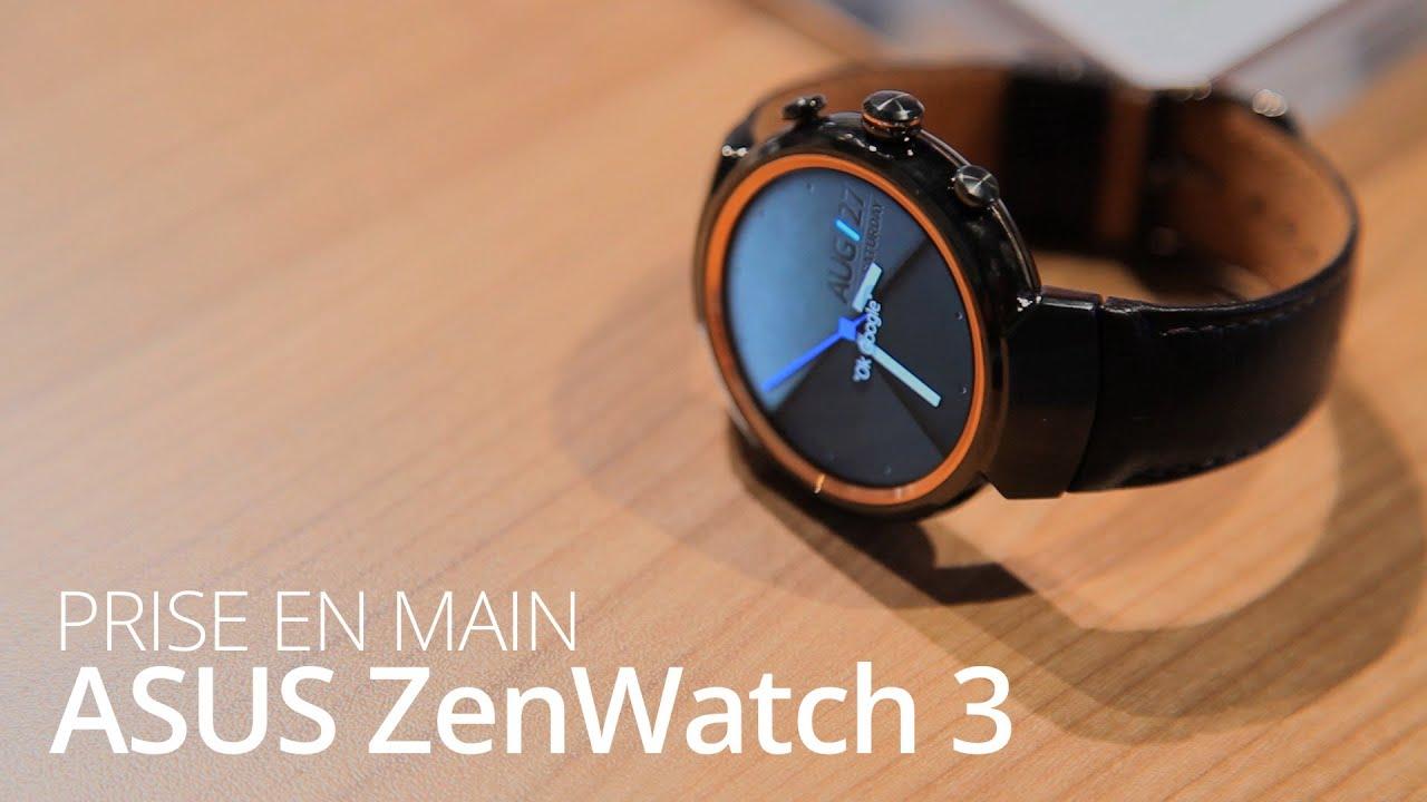 IFA 2016 : Prise en main de la ZenWatch 3 la première smartwatch circulaire d'Asus