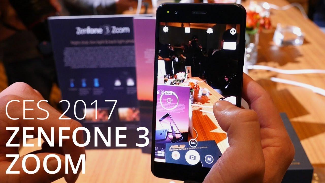 Prise en main du Asus Zenfone 3 Zoom au CES 2017