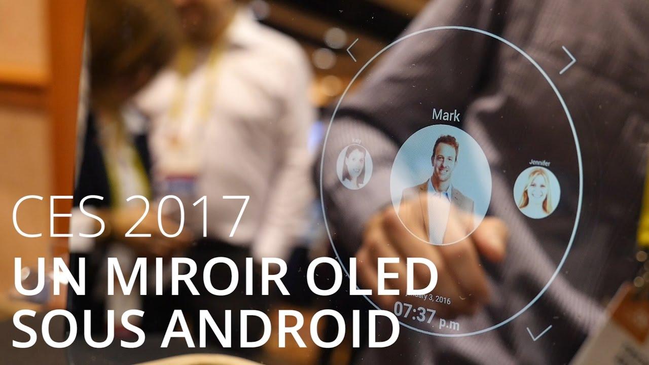 Ekko, un miroir sous Android avec un écran OLED - CES 2017