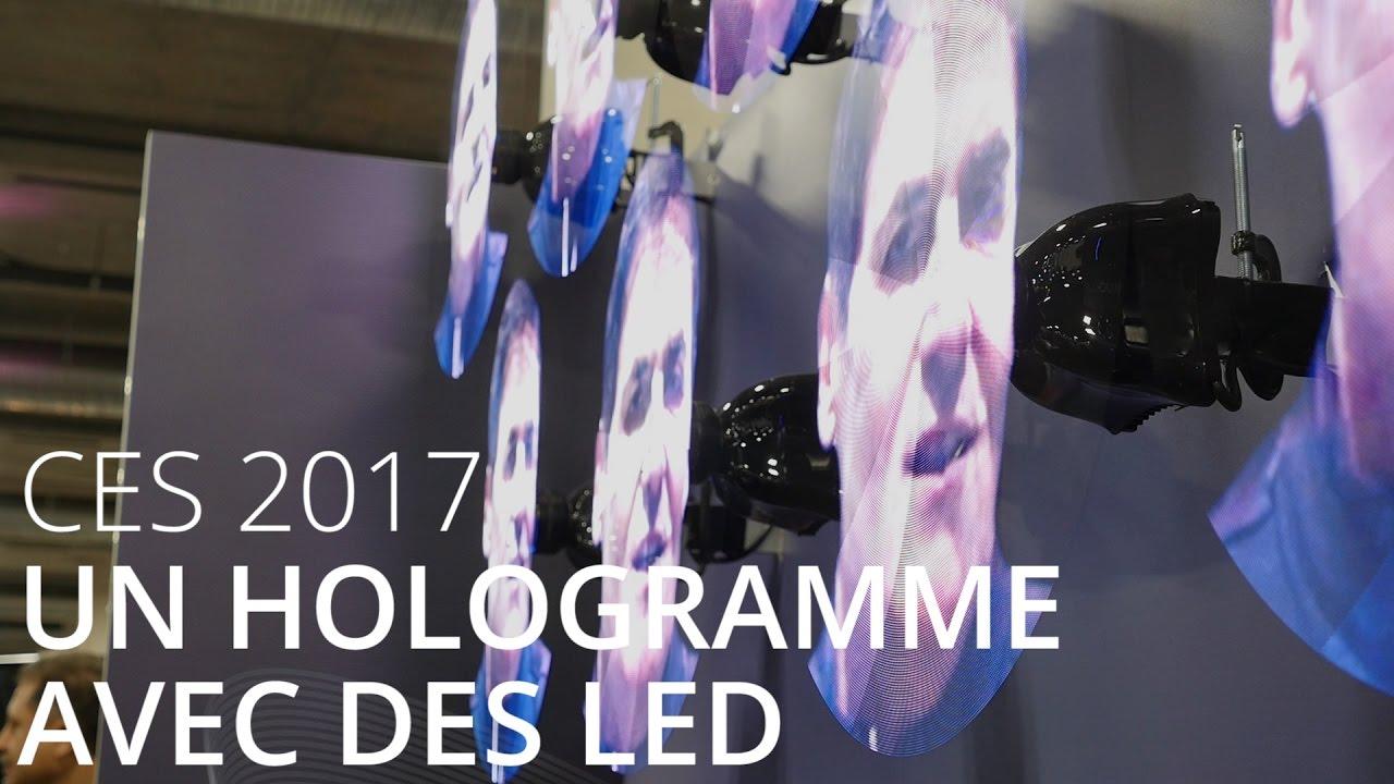 Un hologramme avec des LED par Kino-mo - CES 2017