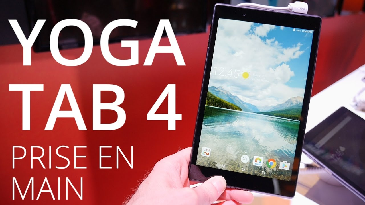 Lenovo Yoga Tab 4 : des tablettes petit budget séduisantes au MWC 2017