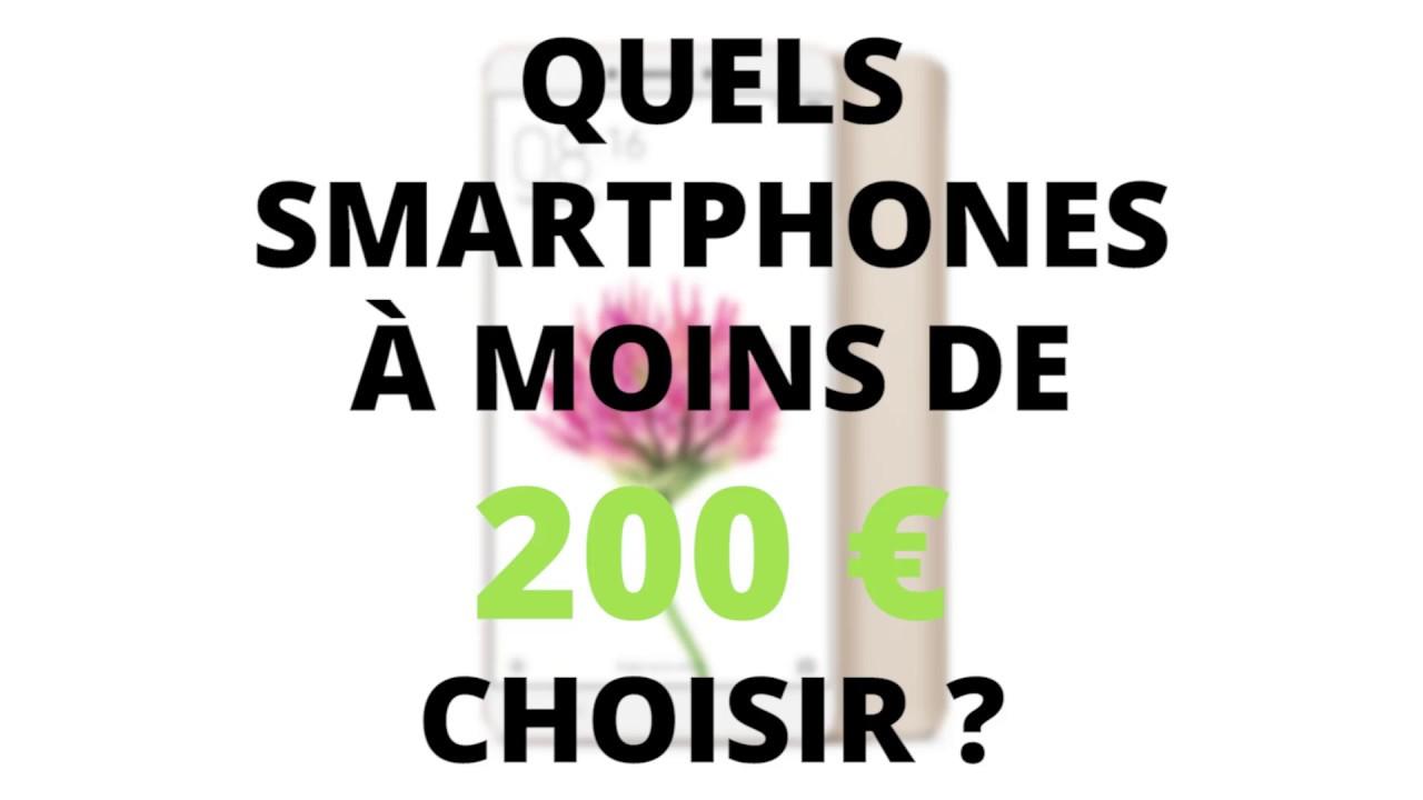En bref : le top des smartphones à moins de 200€