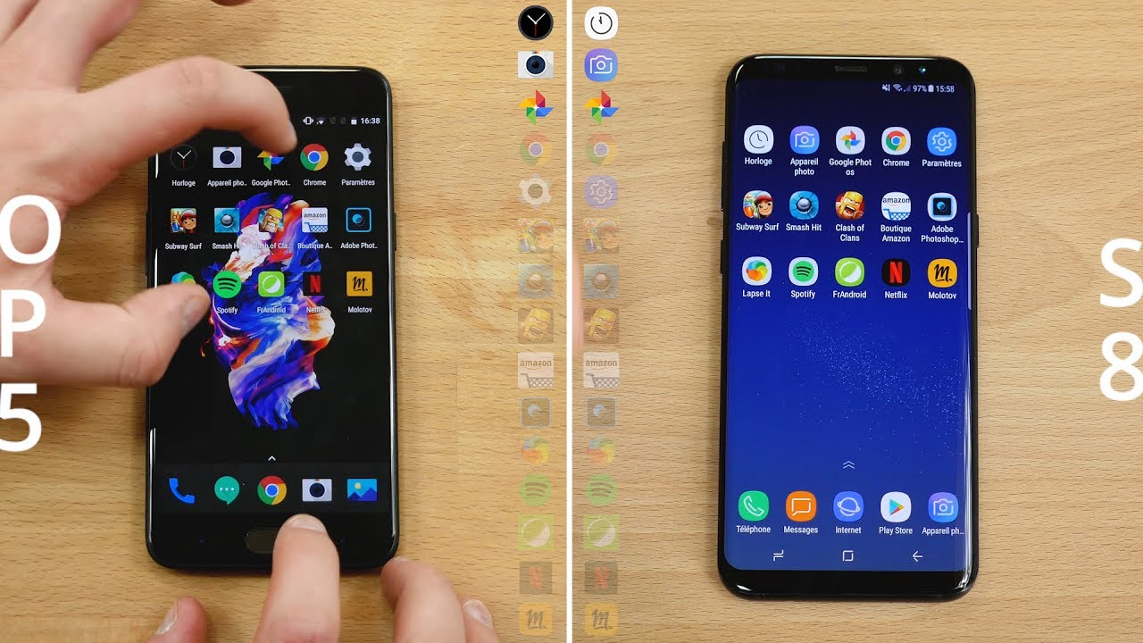 Speedtest : OnePlus 5 vs Samsung Galaxy S8