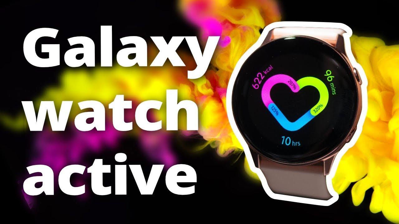 Galaxy Watch Active : la nouvelle montre Samsung qui se RECHARGE avec un S10 !