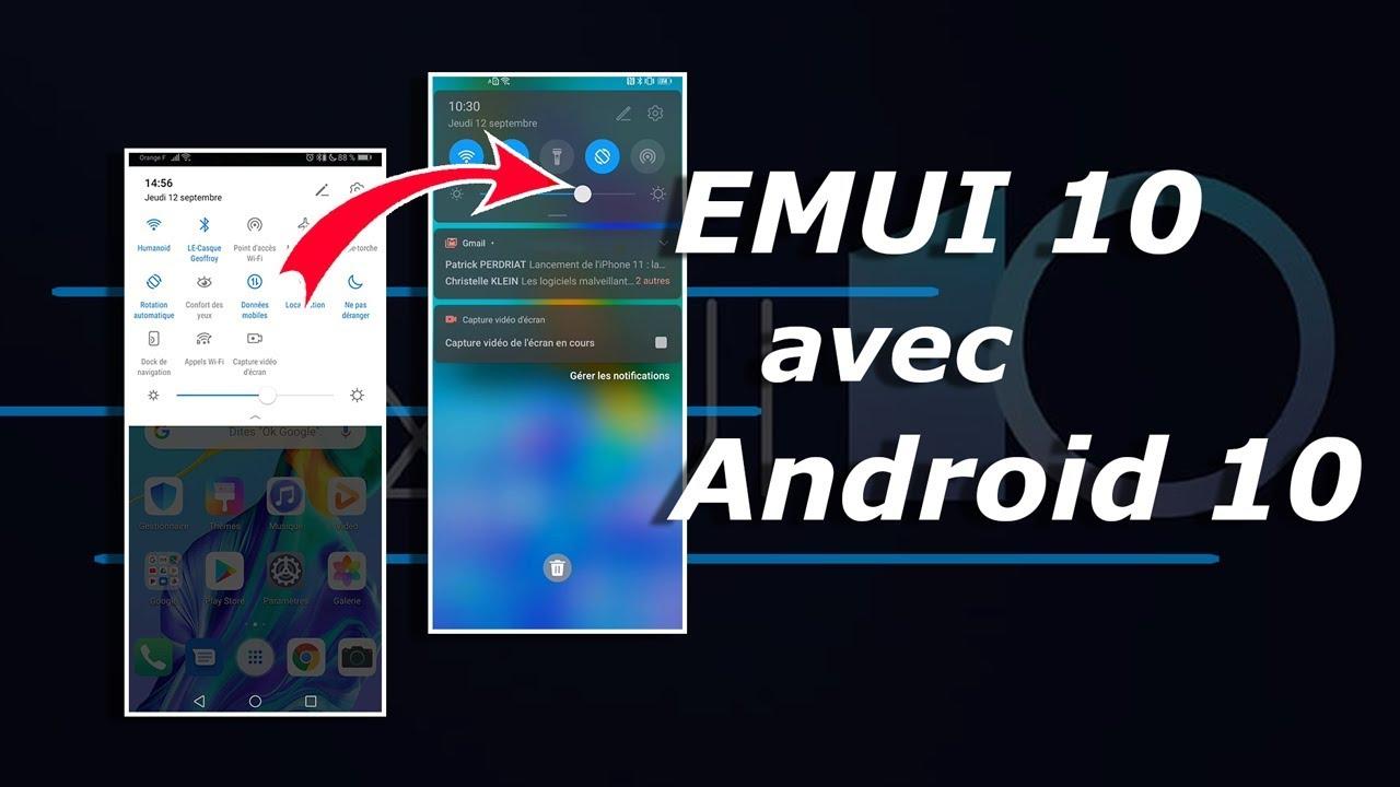 EMUI 10 : voici les NOUVEAUTÉS d'Android 10 sauce Huawei