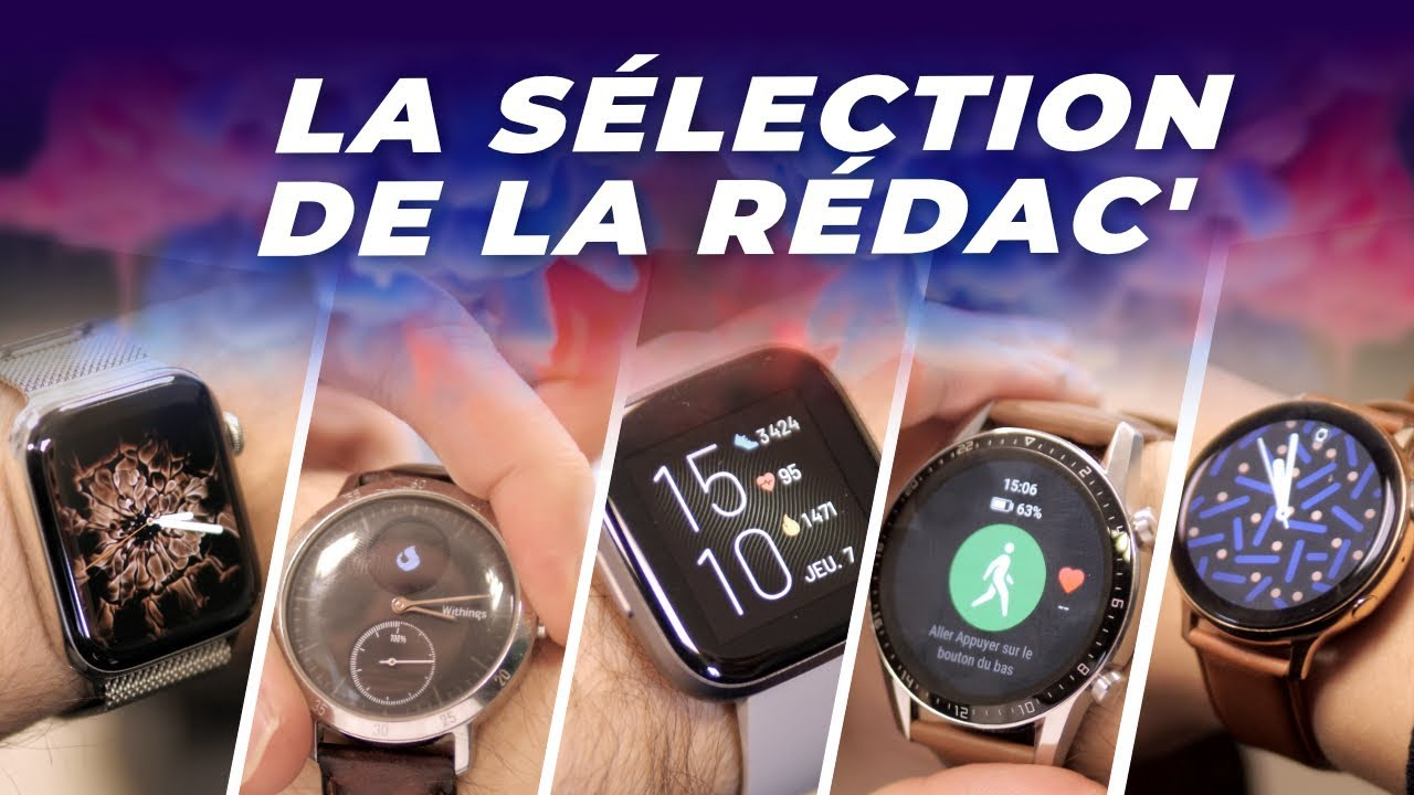 Galaxy Watch Active 2 ? Huawei Watch GT 2 ? Quelles montres connectées on utilise ?