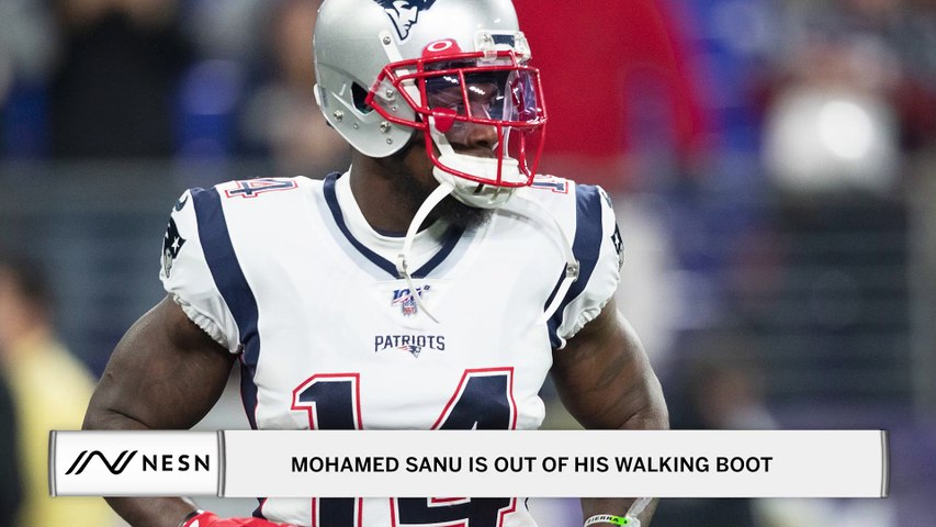 Patriots Wide Receiver, Mohamed Sanu, Is Out Of His Walking Boot and Has Started Rehab After Ankle Surgery This Offseason