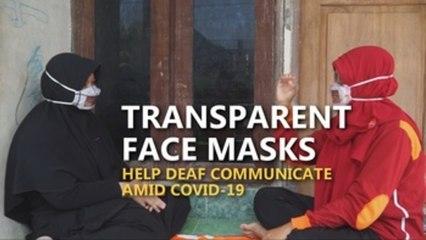 Transparent masks help deaf communicate in Indonesia