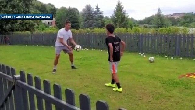 L'entraînement de Cristiano Ronaldo et de son fils