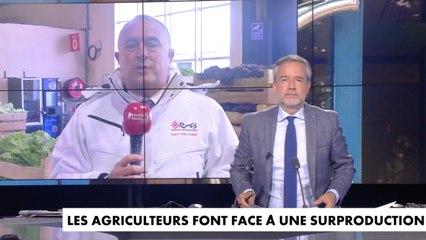 Duplex CNEWS du ministre de l'Agriculture et de l'Alimentation depuis le marché de Rungis