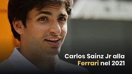 Carlos Sainz Jr alla Ferrari nel 2021