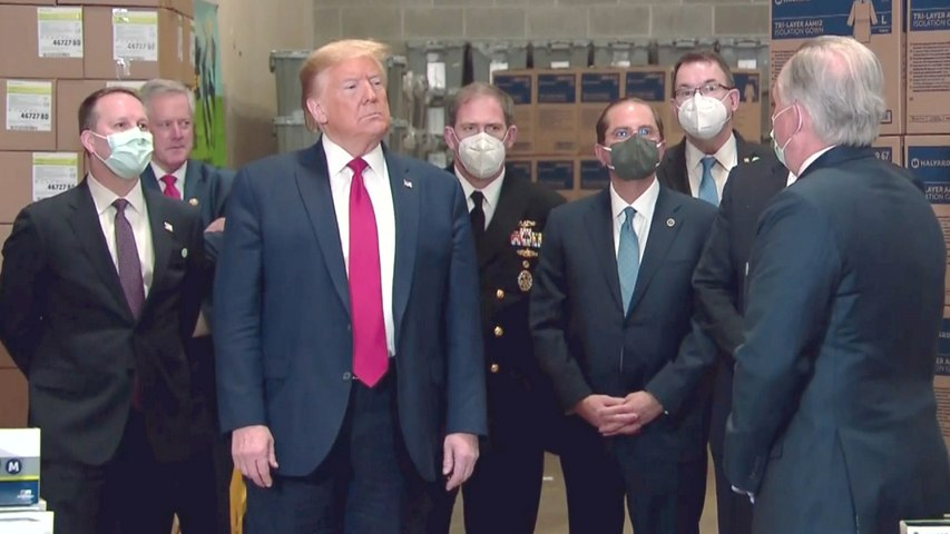 Virus Testing 'Overrated' Says Maskless Trump At Visit To Medical Supply Distributor