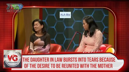 THE DAUGHTER IN LAW BURSTS INTO TEARS BECAUSE OF THE DESIRE TO BE REUNITED WITH THE MOTHER