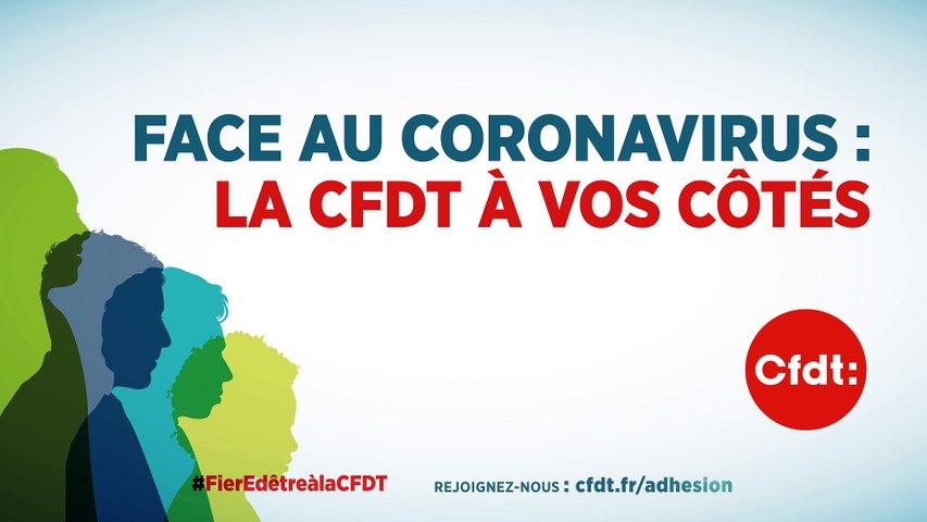 Face au coronavirus : la CFDT à vos côtés