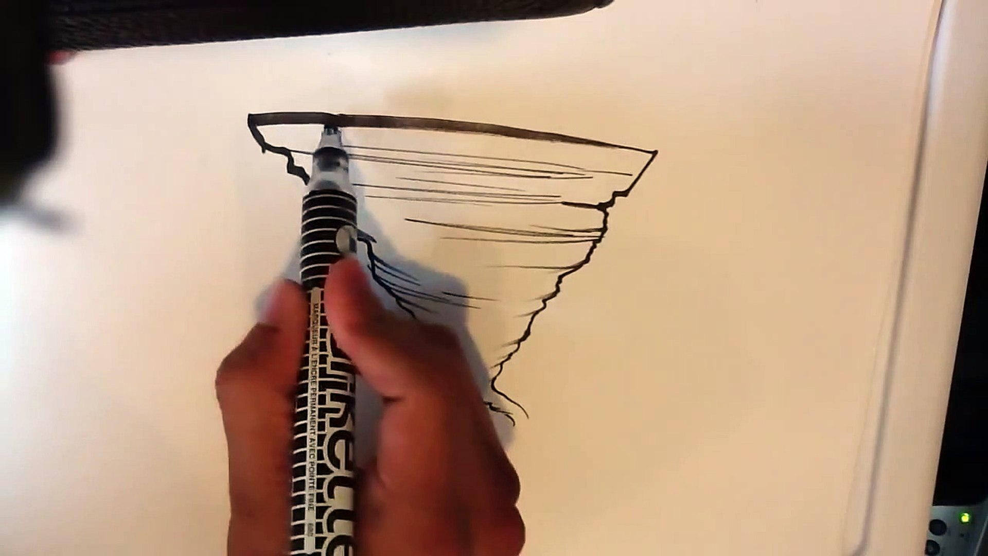 How to Draw a Tornado - Easy Things to Draw
