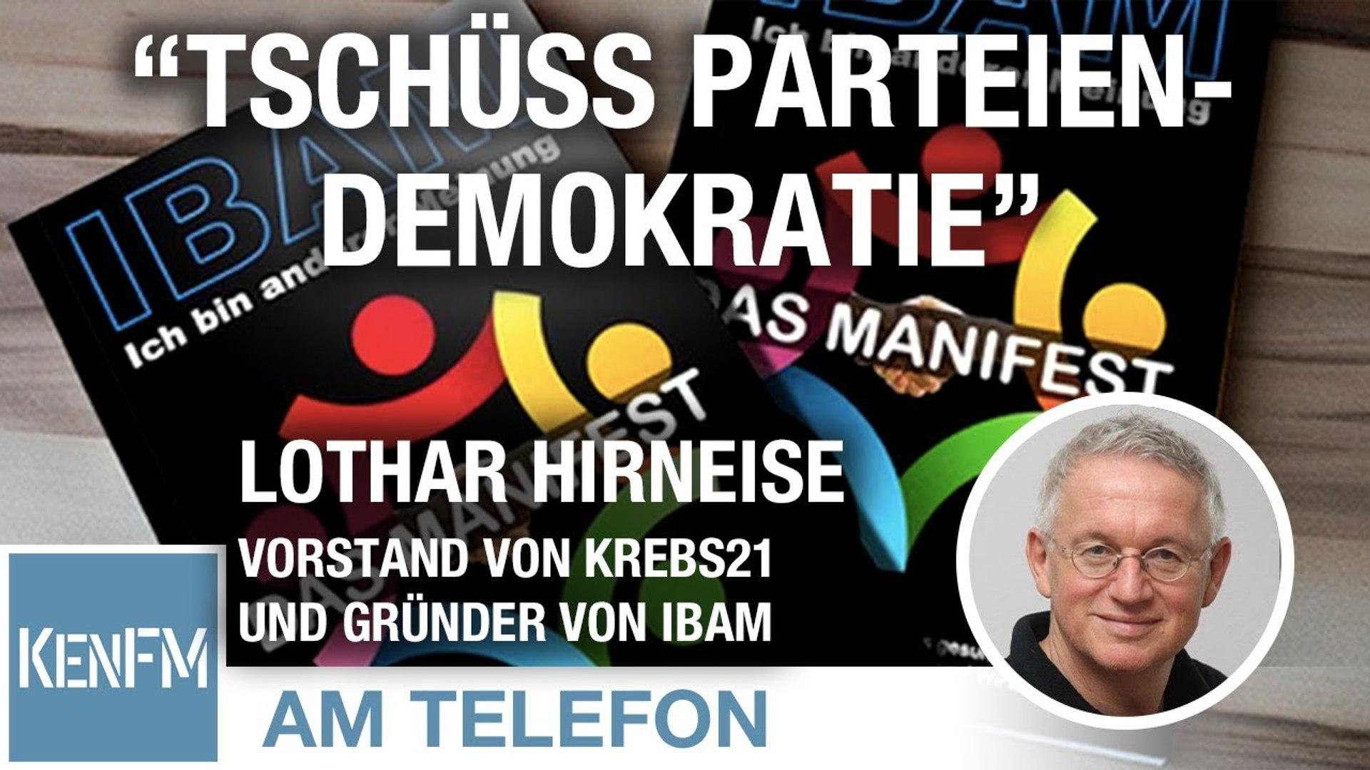 """Am Telefon zu """"Tschüss Parteiendemokratie"""": Lothar Hirneise"""