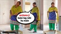 OMG! Archana Puran Singh MAID Bhagyashri in Desi Rangeela Look   Bhagyashri Rocks   Lockdown 2020