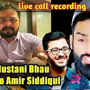 hindustani  bhau reply to amir siddqui support carriminati
