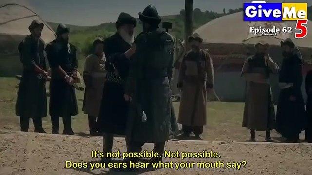Dirilis Ertugrul Season 1 Episode 62 in Urdu Dubbed