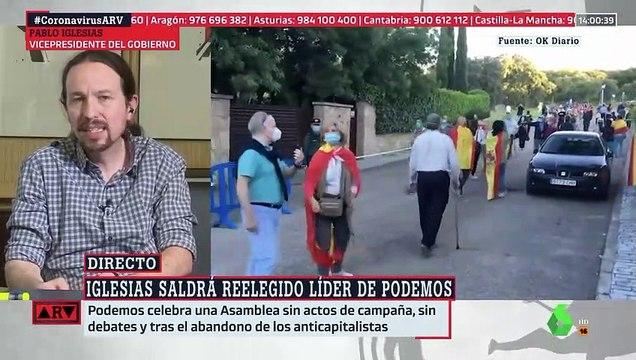Iglesias amenaza con escraches a Ayuso y Abascal en venganza por la protesta ante su casoplón