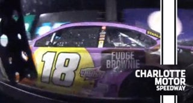 Kyle Busch cuts tire after four-wide battle at Charlotte