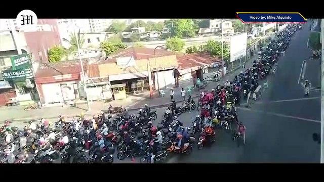 WATCH: Heavy Traffic at Zapote Alabang Flyover