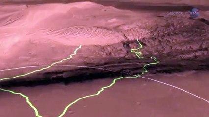 Registro de cambio climático en Marte en rocas analizadas por Curiosity