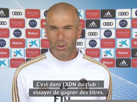 """Real Madrid - Zidane : """"Nous avons la chance de pouvoir travailler à nouveau"""""""