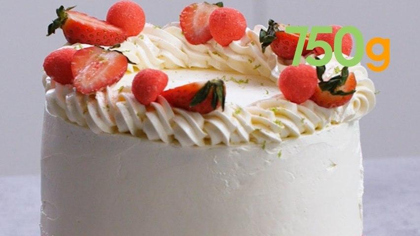 Recette du layer cake ultra gourmand et fruité aux fraises Tagada - 750g