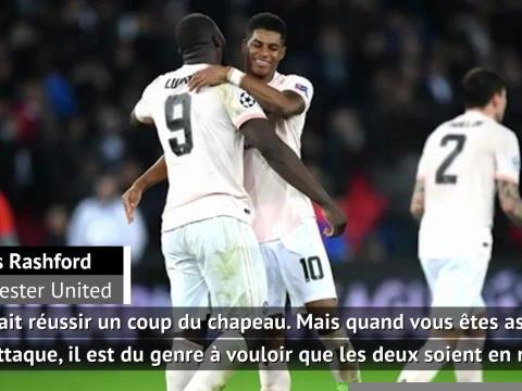 """Ligue des Champions - Rashford sur son penalty face au PSG : """"J'étais prêt à le laisser à Lukaku pour qu'il marque un coup du chapeau"""""""