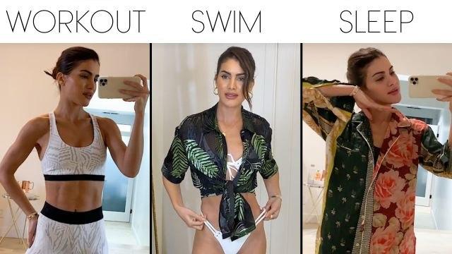 Camila Coelho's Style Routine, From Bikinis to Pajamas