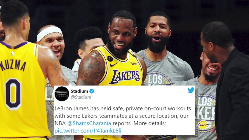 LeBron James Has Been Directing Lakers Private Practices In Quarantine