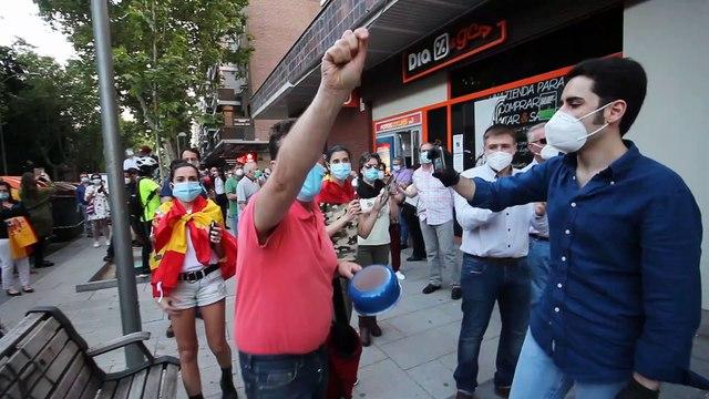 El día después de la agresión en Moratalaz: más tensión con ultraizquierdistas desatados